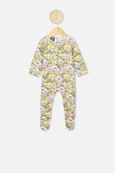The Long Sleeve Zip Romper, LCN MAY ZEPHYR/BLOSSOM BABIES