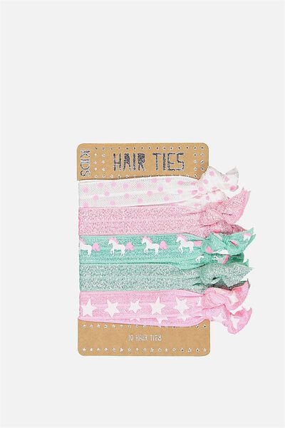Knot Messy Hairties, SPEARMINT UNICORN