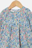 Molly Long Sleeve Dress, DARK VANILLA/DUSK BLUE ANNIE FLORAL