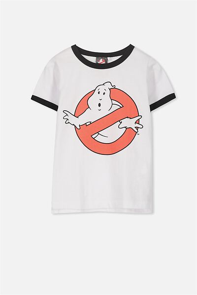 Short Sleeve License Tee, WHITE/GHOSTBUSTERS