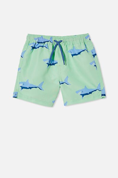 Bailey Board Short, WASHED SPEARMINT/SHARK
