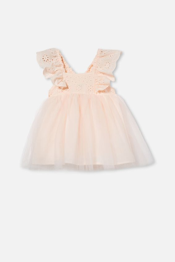 Evie Tulle Dress, CRYSTAL PINK