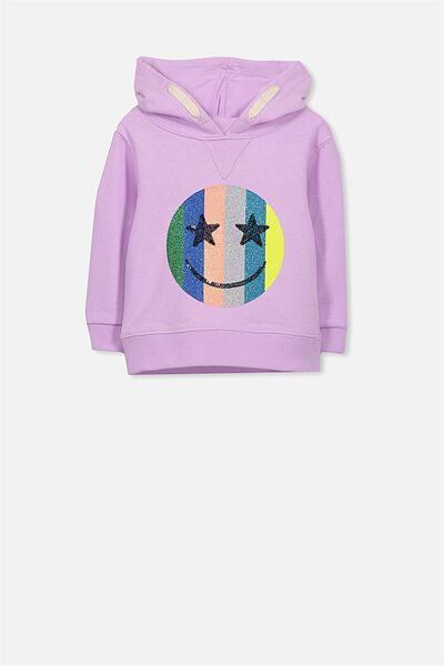 Licence Hooded Skyler Crew, ORCHID BOUQUET/RAINBOW HAPPY