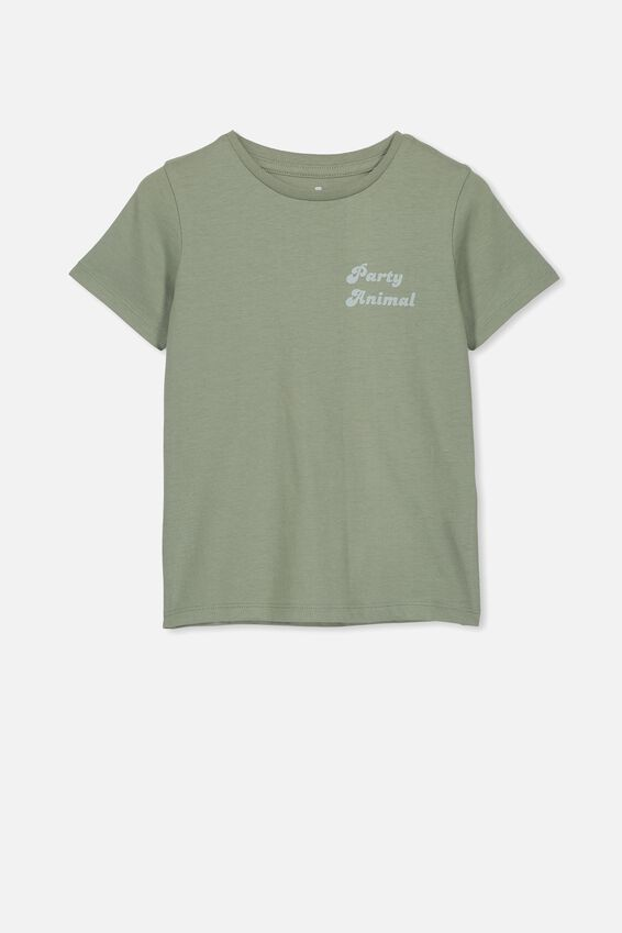 Penelope Short Sleeve Tee, SILVER SAGE/PARTY ANIMAL/MAX