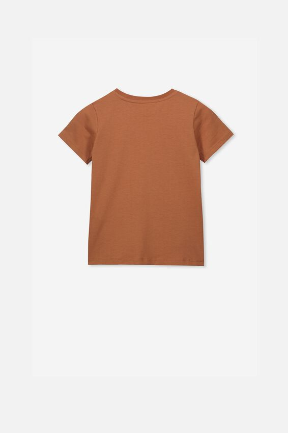 Penelope Short Sleeve Tee, AMBER BROWN/WILD CHILD PLACEMENT/MAX