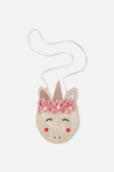 Unicorn Crossbody Bag, NATURAL