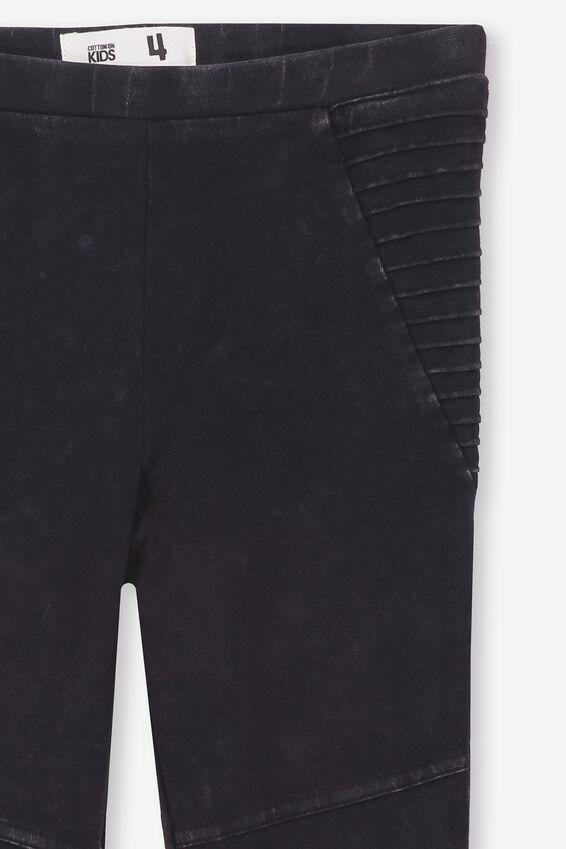 Huggie Leggings, BLACK WASH/MOTO PANELS