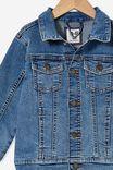 Relaxed Fit Jacket, BONDI MID BLUE