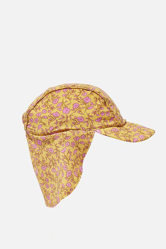 Swim Hat, YELLOW FLORAL