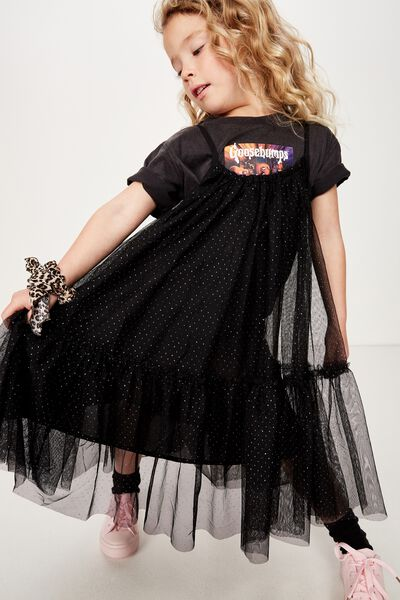Iggy Dress Up Dress, BLACK/SPARKLE DOT