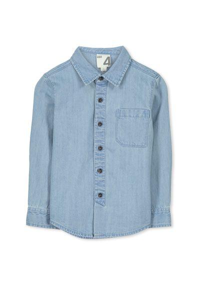 Maxwell Long Sleeve Shirt, CHAMBRAY