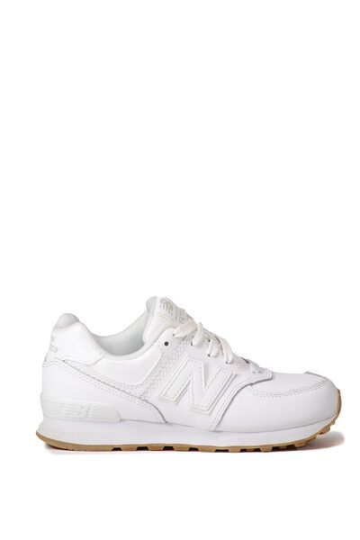 574 Youth Lace Up New Balance 4F7, KL574G8P WHITE