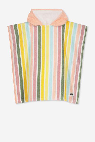 Kids Hooded Towel, VERTICAL STRIPE