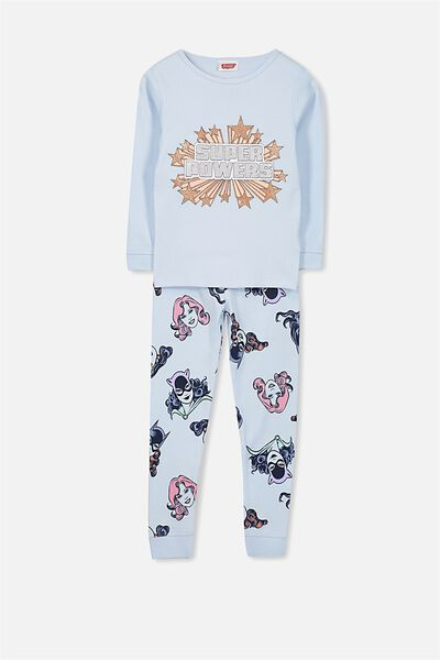 Alicia Long Sleeve Girls PJ Set, LCN SUPER POWERS