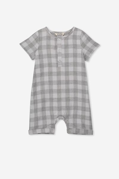 Neesha Playsuit, STORMY SEA/REMY GINGHAM