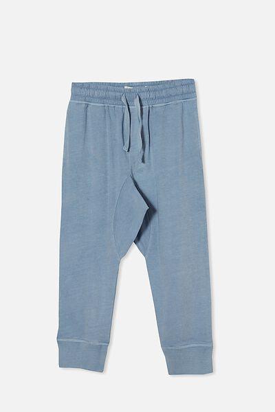 Raffy Drop Crotch Pant, DUSTY BLUE WASH