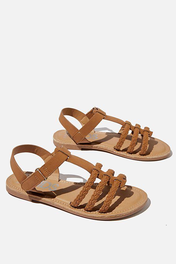 Woven Braid Sandal, TAN