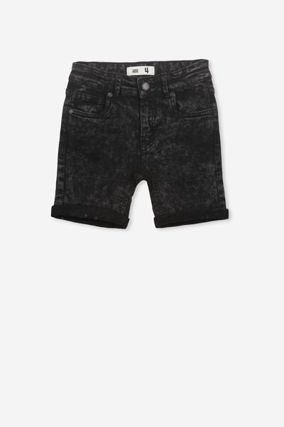Elliot Denim Short, MIDNIGHT BLACK WASH