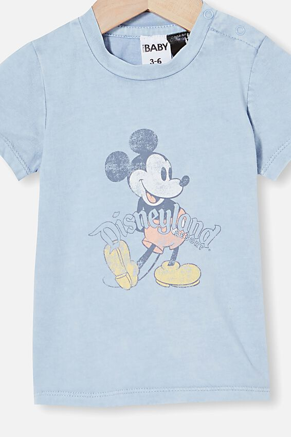 Disneyland Jamie Short Sleeve Tee, LCN DIS DUSTY BLUE SNOW WASH/VINTAGE MICKEY