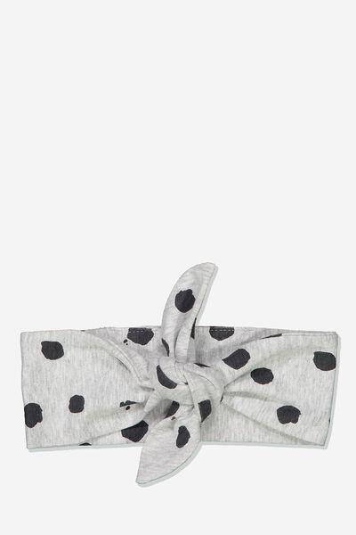 The Tie Headband, CLOUD MARLE/INK SPOT