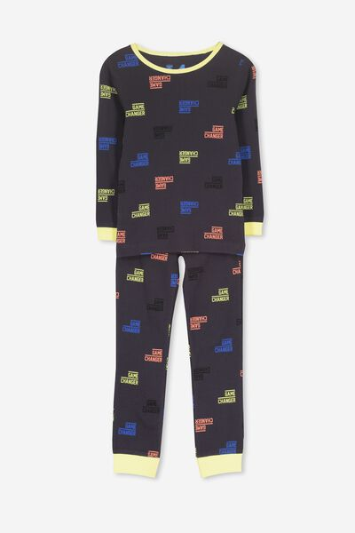 Harry Long Sleeve Boys PJ Set, GAME ON