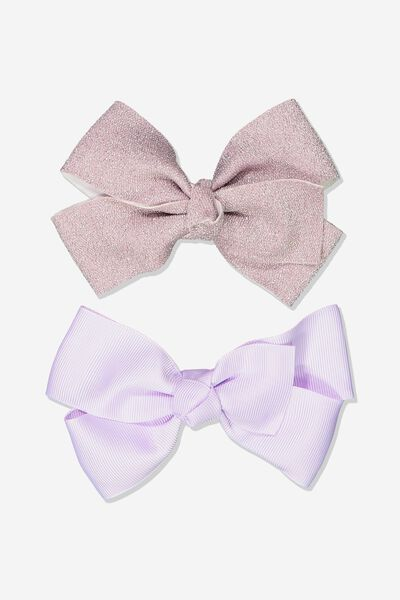 Big Bow Clips, LAVENDER SPARKLE