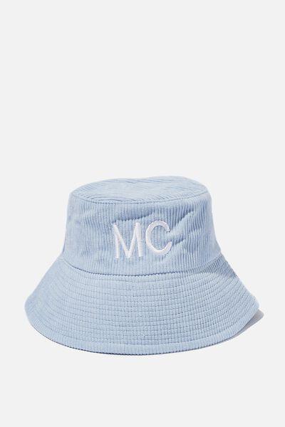Personalised Kids Bucket Hat, SKY HAZE CORD