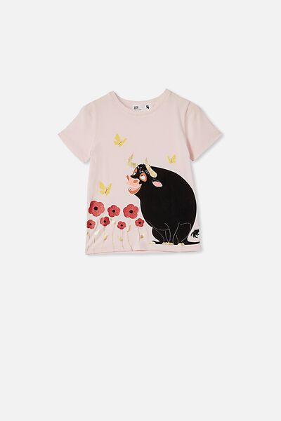 License Short Sleeve Tee, LCN FOX CRYSTAL PINK/FERDINAND