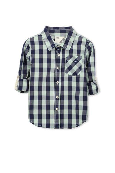 Noah Long Sleeve Shirt, GINGHAM CHECK