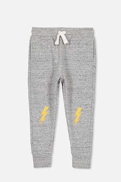 Lewis Trackpant, GREY NEP/BOLT KNEES