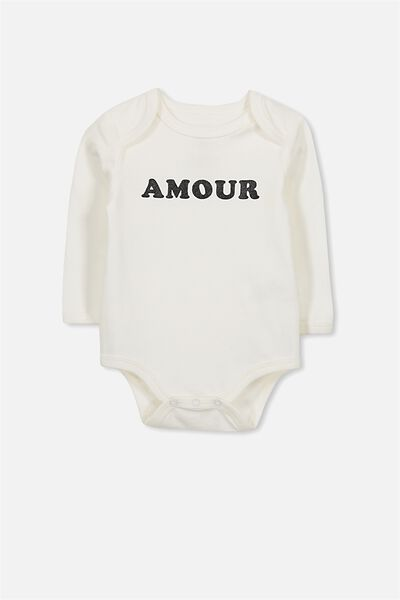 Mini Long Sleeve Bubby, VANILLA/AMOUR