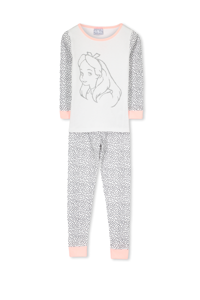 Kristen Long Sleeve Girls PJs, ALICE IN WONDERLAND GLITTER