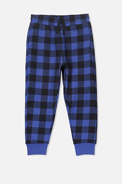 Lewis Trackpant, SCUBA BLUE/CHECK