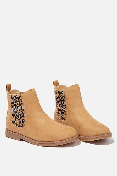 Scallop Gusset Boot, SAND DUNE ANIMAL SCALLOP