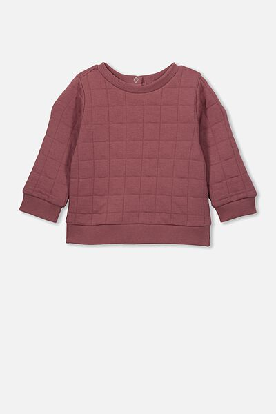 Scout Quilted Sweater, HENNA