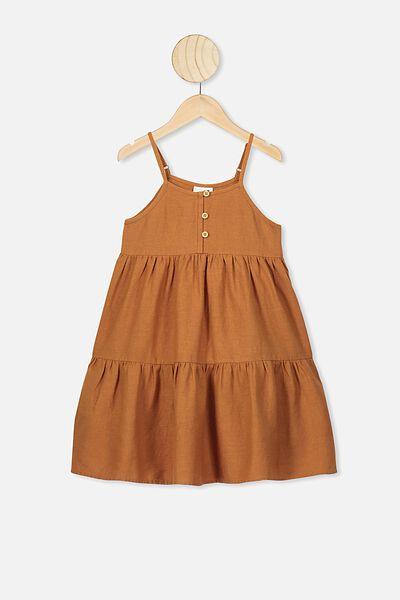 Mackenzie Sleeveless Dress, CARAMEL TOFFEE