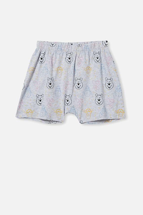 Hudson Short Sleeve Pyjama Set Licensed, LCN DIS WINNIE THE POOH FACES/SUMMER GREY MAR