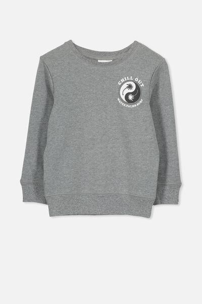 Lachy Crew Jumper, HAZE MARLE/CHILL OUT