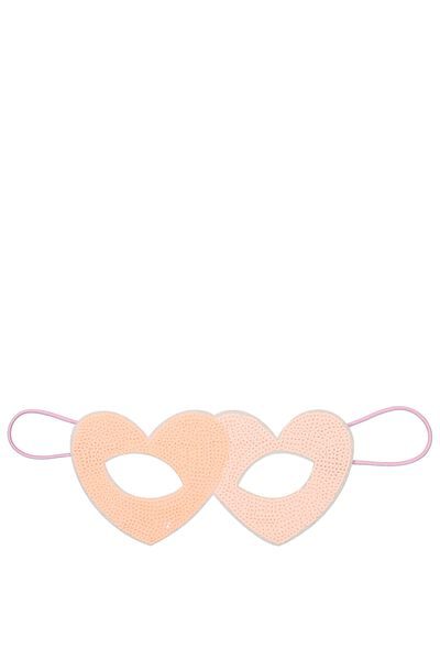 Glitzy Fun Mask, HEARTS