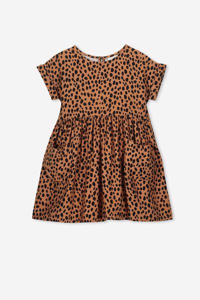 Malia Short Sleeve Dress, SUNBURN ANIMAL