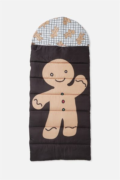 Kids Novelty Sleeping Bag, GINGERBREAD MAN
