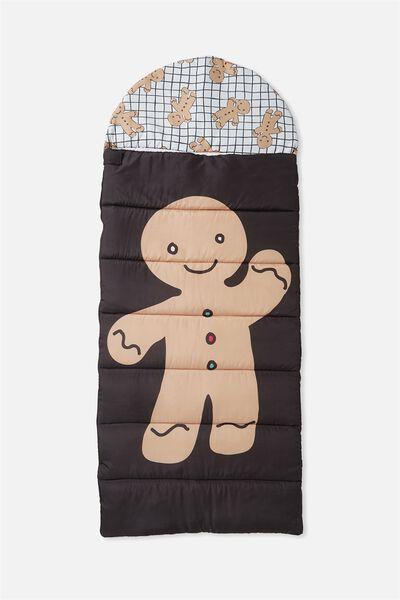 Kids Novelty Sleeping Bag, GINGERBREAD MAN