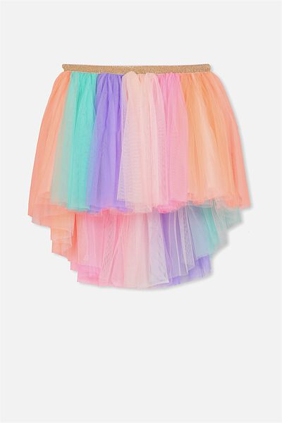 Trixiebelle Tulle Skirt, RAINBOW/HIGH LOW