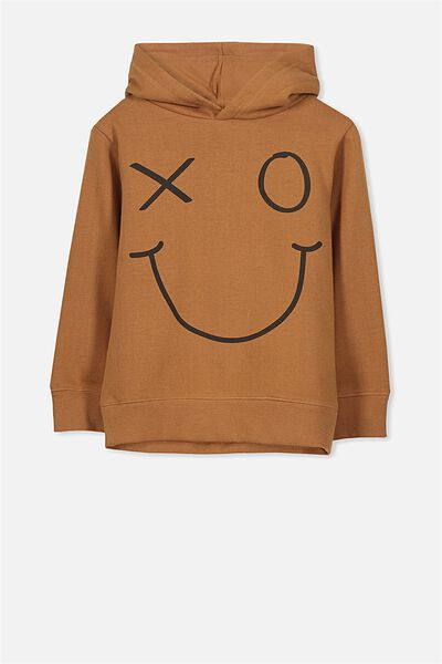 Liam Hoodie, BURNT GINGER/SMILEY