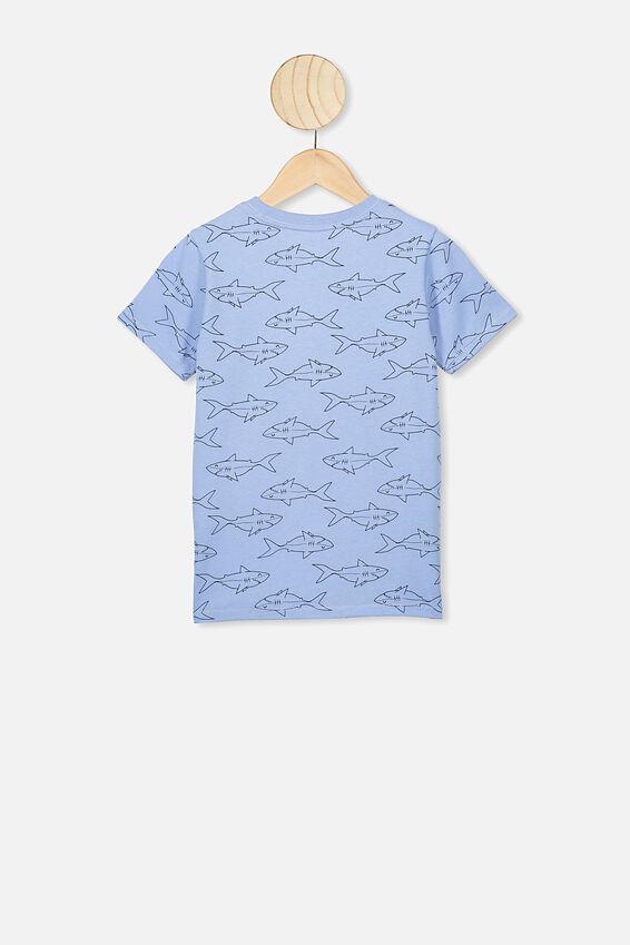 Max Short Sleeve Tee, POWDER PUFF BLUE/SHARK YDG