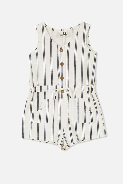 Eddi Playsuit, VANILLA ICE/PEACOAT STRIPE
