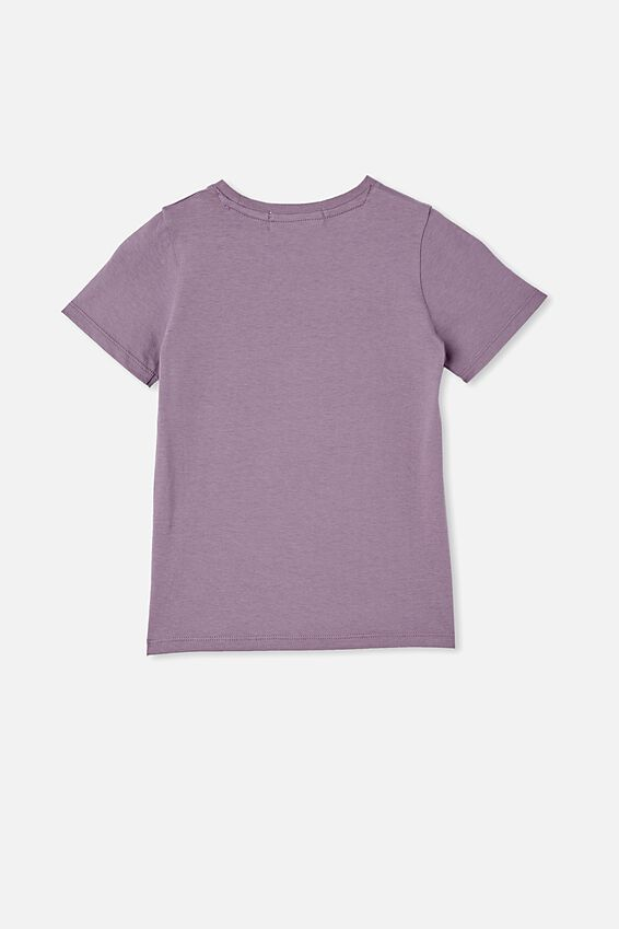 License Short Sleeve Tee, LCN WB DUSK PURPLE/FRIENDS HEART