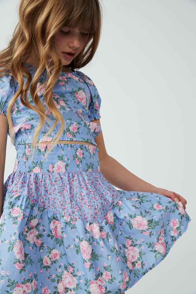 Marigold Skirt, DUSK BLUE WHITBY SPLICE