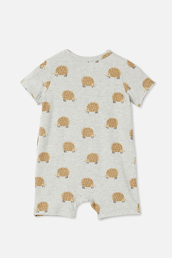 The Short Sleeve Romper, CLOUD MARLE/WAYNE ECHIDNA