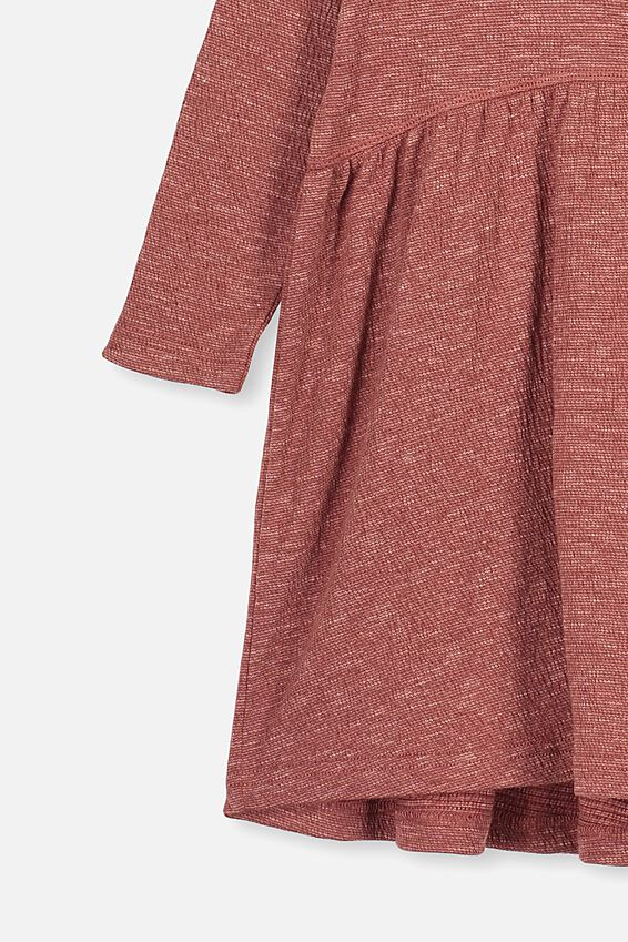 Freya Long Sleeve Dress, HENNA TEXTURE